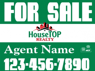 Double-Sided Home Advertising For Sale Panel