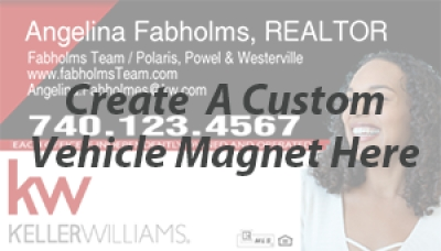 Get your very own customized Keller Williams Magnetic sign.