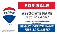 RE/MAX® Horizontal Standard w/License# (required in California)
