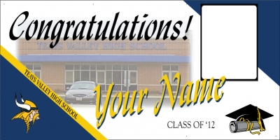 Teays Valley Deluxe Graduation Banner