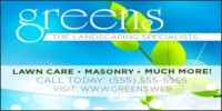 Landscaping Specialists Business Banner