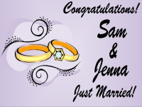 Personalized Congratulations Just Married Yard Sign template