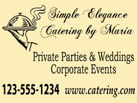 Elegant Catering Business Yard Sign