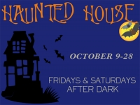 Halloween Haunted House Yard Sign