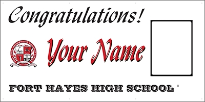 Fort Hayes High School Standard Grad Banner