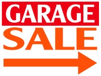 Garage Sale Yard Sign | Orange/Red