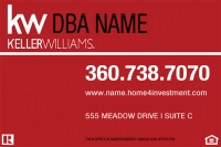 Double-Sided Keller Williams Yard Signs | New KW Logo
