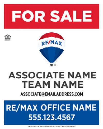 RE/MAX Vertical Standard with Team Name