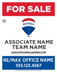 RE/MAX® Vertical Standard w/Team Name