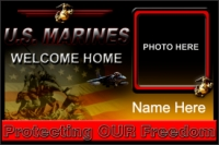4' x 6' Marines Welcome Home Banner