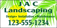 Landscaping Design Business Banner 2