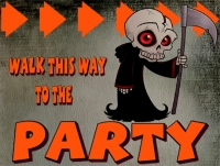 Halloween Party Directional Yard Sign