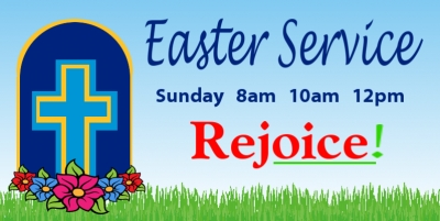 Religious Banner Template #1-Christian Easter Service