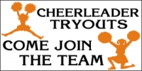 Cheerleading Tryouts Sports Banner 2