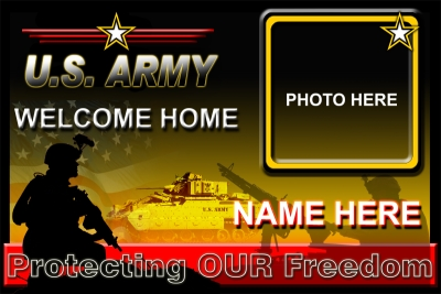4' x 6' Army Welcome Home Banner