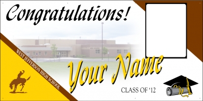West Jefferson High School Deluxe Graduation Banner