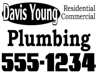 Plumbing Business Yard Sign Design