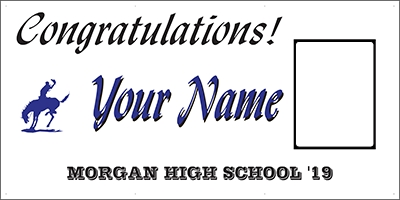 Morgan High School Grad Banner Template