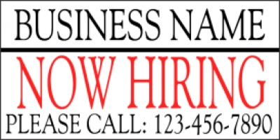 custom business now hiring banner