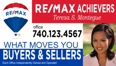 Easy customizable RE/MAX® magnetic sign all ready for your info! Get started now!