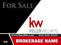 Keller Williams Red and Black Real Estate Panel 18 x 24