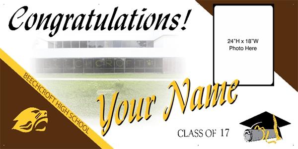 Graduation Banners Ohio School Specific W School Photo