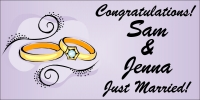 Just Married Banner Template 2