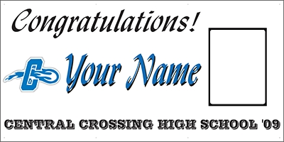 Central Crossing High School Grad Banner Design