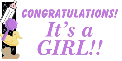 It's A Girl Baby Banner 1