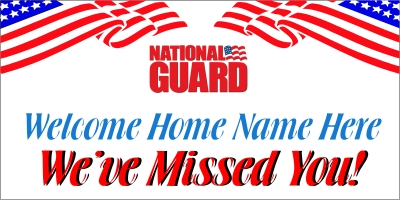 Dept of National Guard Welcome Home Banner