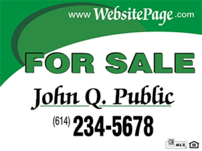 Double Sided John Q Public Real Estate Panel 24 x 18