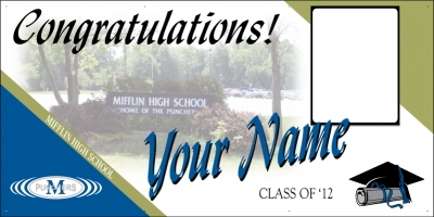 Mifflin High School Deluxe Grad Banner
