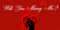Valentine Banner #7 Marry Me!