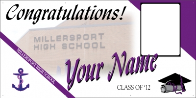 Millersport High School Deluxe Graduation Banner