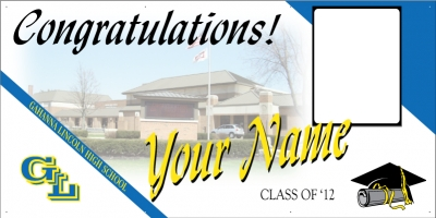 Gahanna Lincoln Deluxe Grad Banner