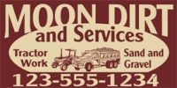 Sand & Gravel Services Business Banner