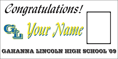 Gahanna Lincoln High School Grad Banner