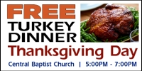 FREE Turkey Dinner for Thanksgiving Day Design